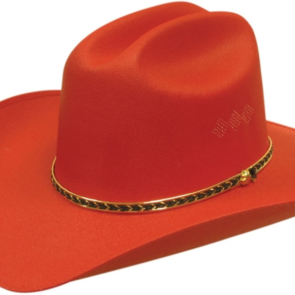 f44074a9711 Sexy Red Hot Canvas Cowboy Hat